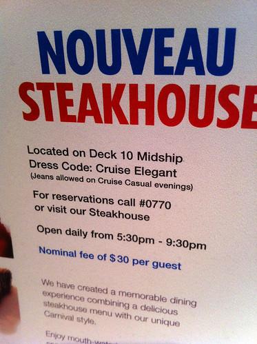 Nouveau Steakhouse - Jeans Allowed