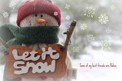 Let It Snow (melissa_dawn) Tags: snowflake friends red white snow green canon snowman picnik melissamiller