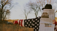 (infiniteivresse) Tags: hat america newspaper sweater americanflag newyorktimes chunkysweater