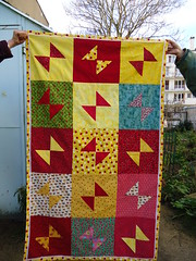 Butterfy / baby quilt (ZiKiarts) Tags: christmas camera city family famille flowers friends red sky anna usa cats baby fish paris france color colour london apple yellow festival cat jaune butterfly garden cherry rouge ana chats crazy chat quilt iran lace crafts sony jardin fair papillon fabric cotton fancy flannel ladybird raspberry ladybug tehran patchwork nol poisson joannes bb dentelle babyshower cerise pomme 2010 coccinelle cerfs framboise 75019 yoyos 2011 75020 pastque coleur watermelo bazoft thebestofday rubyphotographer yotos deears jardinparrtagleroysme