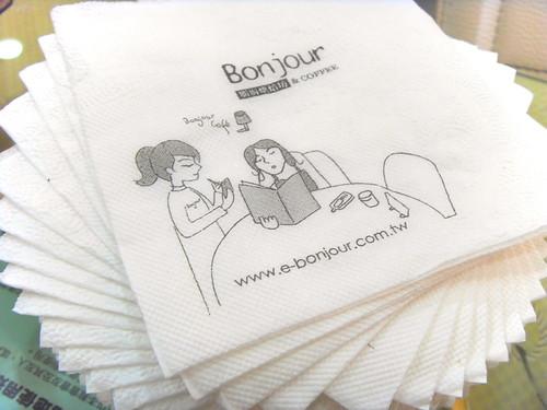 朋廚烘培的餐巾紙