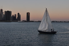 Sailing...... (Seth Oliver Photographic Art) Tags: chicago illinois nikon midwest cityscapes lakemichigan sailboats southloop pinoy downtownchicago johnhancockbuilding wbez chicagoskyline urbanscapes chicagoist cityskylines d90 lakepointetower handheldshot urbanskylines sooc moderncities sunsetsailing skyscrpaers perfectsunsetssunrisesandskys aperturef40 setholiver1 18105mmnikkorlens circularpolarizers 0001secondexposure manualmodeexpsoure