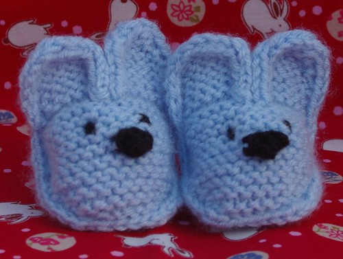 blue bunny booties