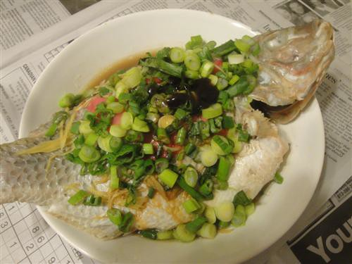 Steamed tilapia