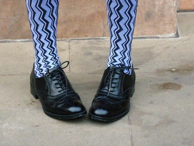 zig zag tights and brogues