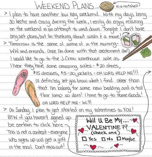 Weekend Plans Jan 14