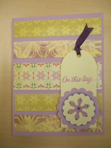 Purple On This Day Card