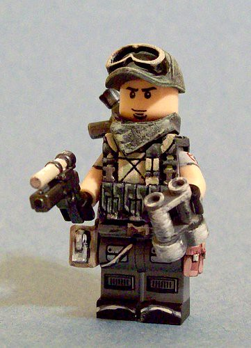 Custom minifig Blackwater Private Military Contractor custom minifig