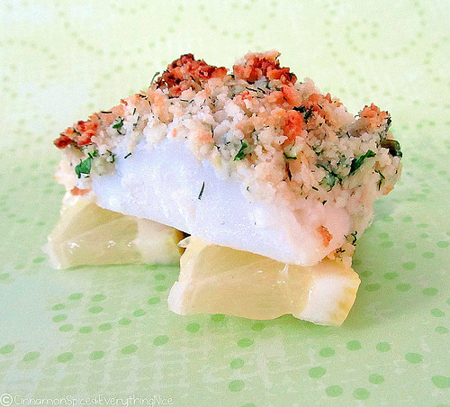 Butter and Herb Cracker Crusted Cod Fish