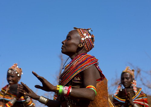 African Tribe Dance The rendille`s ceremonial