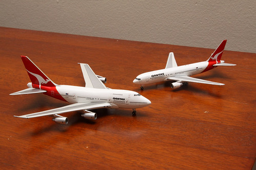 Qantas 747SP VH-EAA and 767-200 VH-EAL