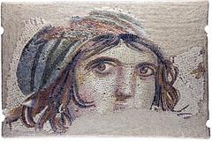 Gypsy Girl_5623 (hkoons) Tags: art turkey asia roman tiles zeugma mideast gaziantep anatolia mozaic romanart excavations asiaminor antep gypsygirl mozaics 3bc gaziantepmuseum aintab beliszeugma