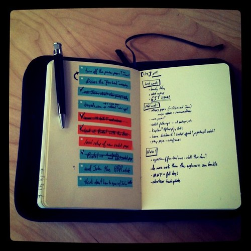 Here's my new Behance stickers in action - freeform notes on the tight, tasks on the left.