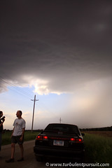 5-31-09 - Eastern Nebraska (CodyErvin) Tags: road sky people cloud storm car rain weather skies farm ominous spooky chase pursuit gravel chasing chasers turbulent