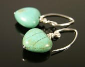 Turquoise hearts of stone earrings