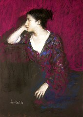 Woman in Purple Blouse
