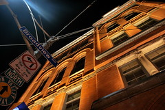 Broadview Hotel (Marcanadian) Tags: toronto ontario canada downtown city architecture building autumn fall 2016 broadview hotel queen street east avenue jillys streetcar developments historic night illuminated light