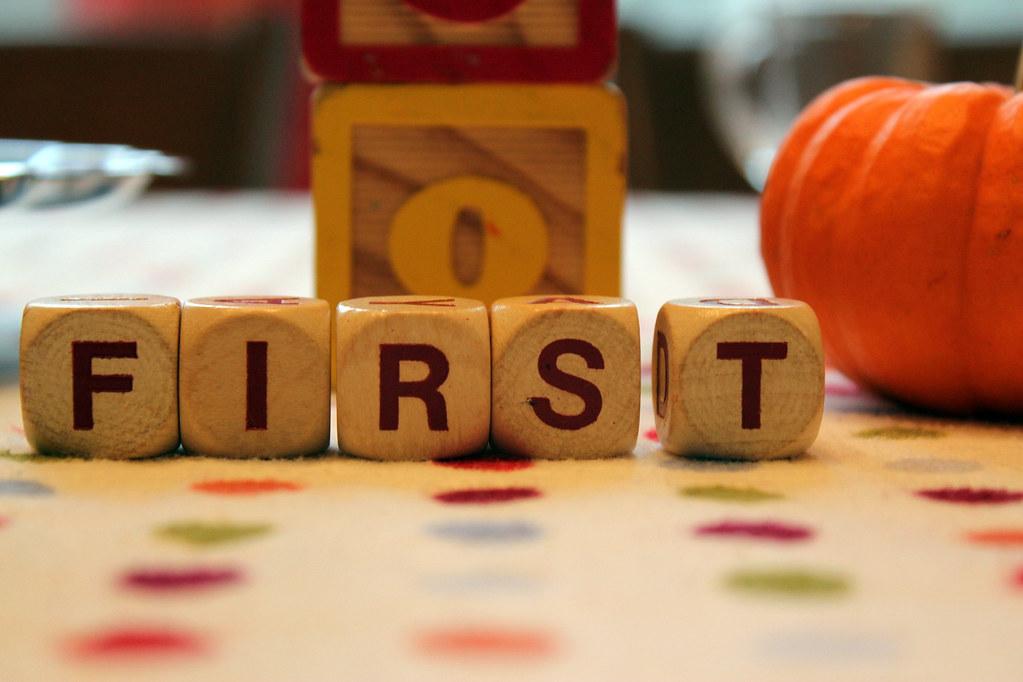 first (birthday)