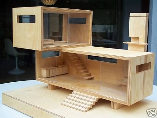 Modern Neutra Dollhouse