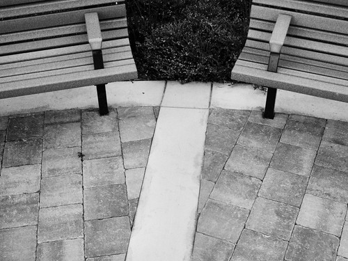 Park Benches: Abstract View