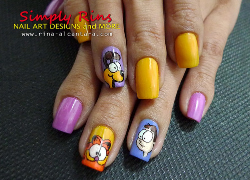 Nail Art Garfield 04