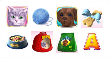 free Cute and Fluffy slot game symbols
