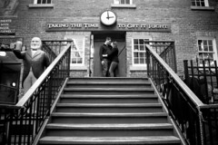 IMGP8910 (thatamygirl) Tags: white love stone stairs engagement kiss heart time market couples property andrew romance historic ring brewery blair engaged mcintyre