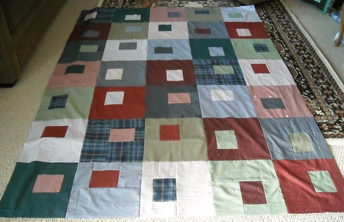 shirt quilt top finished