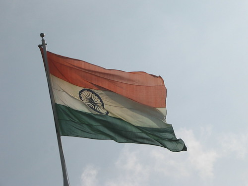 Indian Flag at Sriperambdur