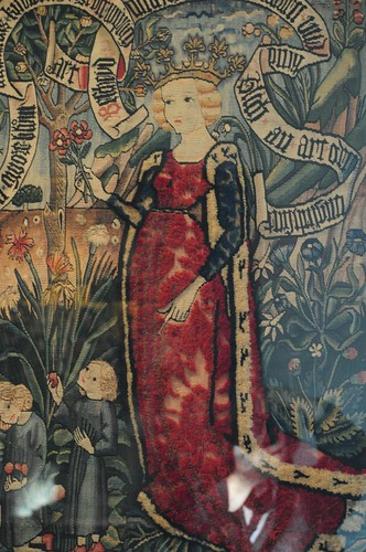 The Cloisters Tapestry Red Dress