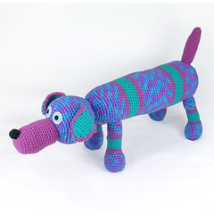 Wes (patti haskins) Tags: dog stuffed crochet plush softie pup multicolor