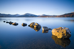 Rocks at the Loch (Semi-detached) Tags: november winter sky scotland big nikon long exposure glow clear stewart lee loch lomond 2010 stopper waterscape semidetached d300 balmaha milarrochy