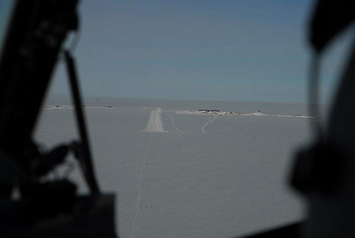 Aiming for the runway at South Pole Station.