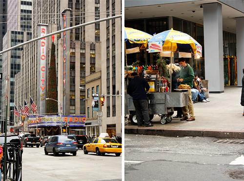 radio city, street scene