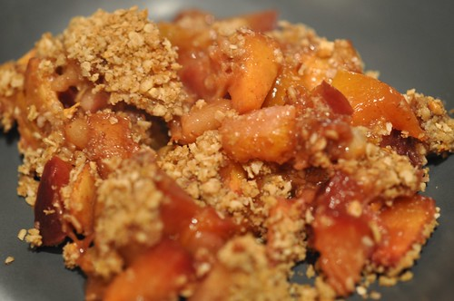 Nectarine and Plum Crisp