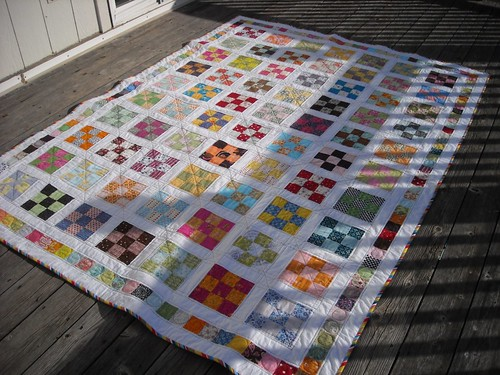 9-patch quilt finished