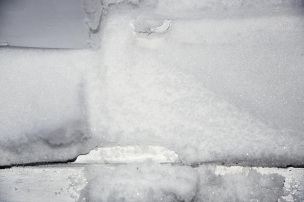 snow in window