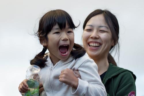 Dos niñas japonesas. 20 años de diferencia.