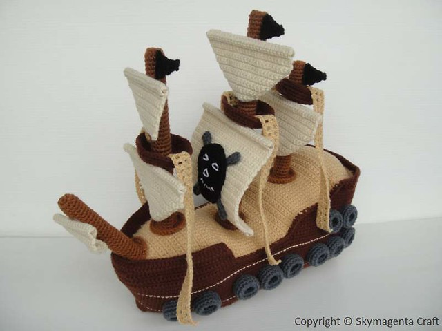 Crochet Pirate Ship