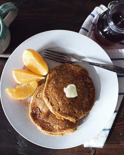 orange and pumpkin pancakes