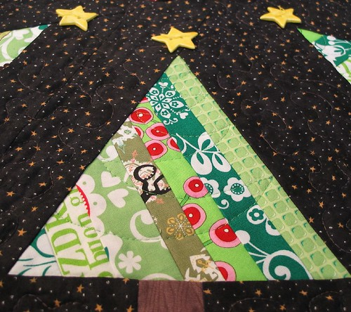 starry night tree skirt tree quilting