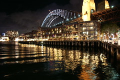 Sydney Harbour Bridge at night (Tiensche) Tags: night river one hotel 1 sydney australia nightime wharf therocks harbourbridge pierone sebelpierone sebel colorphotoaward