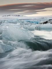 Jkulsrln Iceberg Factory | Iceland (Reed Ingram Weir) Tags: ice sunrise waterfall lagoon lee iceberg filters jkulsrln glacial flowingwater nikon70200mm canon5dii reedingramweir riwp 5attimes