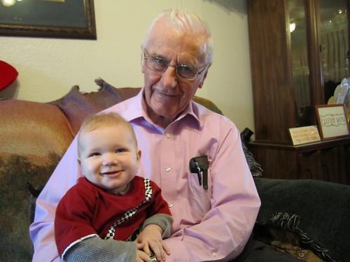 Ian with Great Grandpa