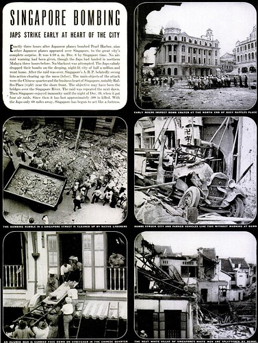 Singapore Bombing - Life Magazine, Feb 2, 1942