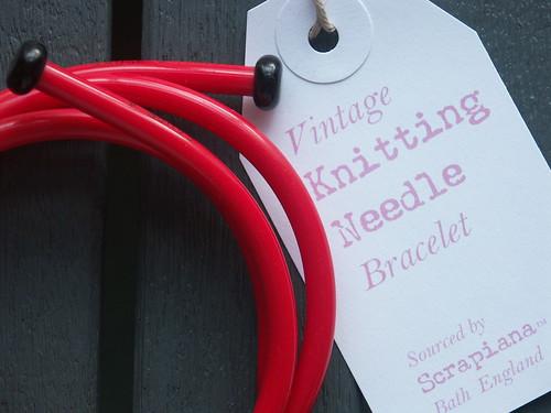 Vintage Knitting Needle Bracelet