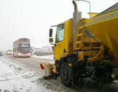 20101206_002a - Volvo B9 307 in the snow in Port Seton on 06/12/10 (VV773) Tags: snow buses port volvo edinburgh wright gemini plough seton lothian portseton b9tl sn09ctz