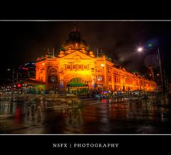 Flinders Street Station, Melbourne (NSFX84) Tags: city station skyline night australia melbourne victoria scape hdr flinders