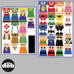 Custom LEGO Cartoon Decal Sticker Set. (dibdobdesign) Tags: park family pink guy sticker sylvester lego mask south ken barbie simpsons sonic figure decal minifig custom tweety kenny panther garfield decals minifigure flinstones
