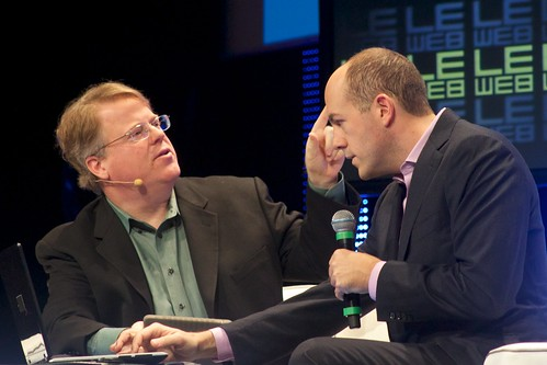 Robert Scoble and Mike Jones of MySpace at Le Web